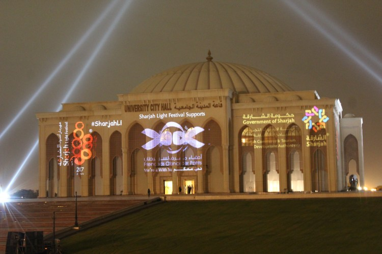 All eyes on the Sharjah University City Hall - before the show begins