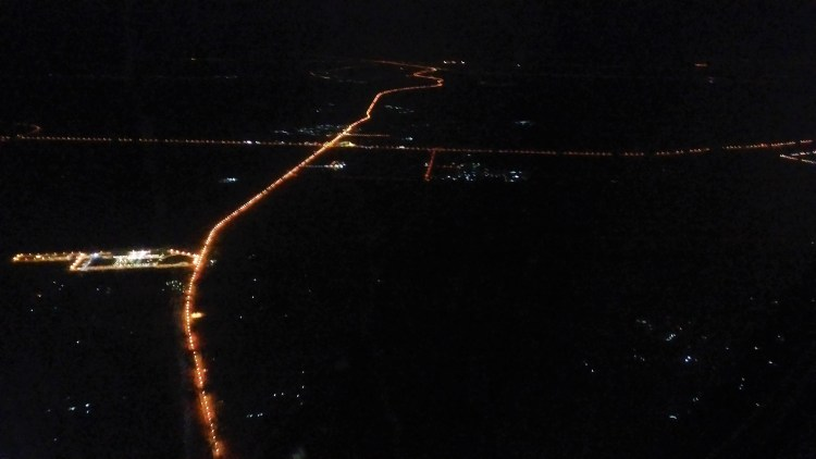 Bird's-eye view of Sharjah - just before we land