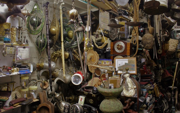 Clocks, planets, jugs and ropes - a lot of interesting antiques are paraded inside Al Arsa Souq