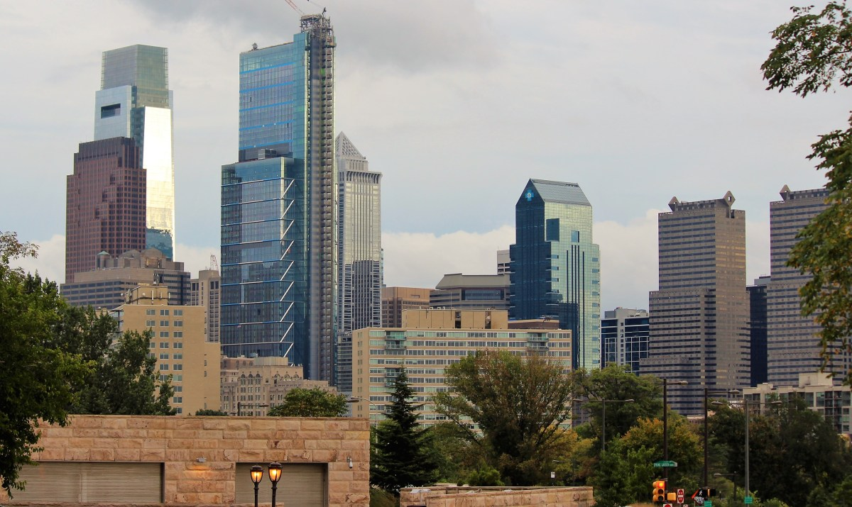 With a skyline marked by skyscrapers, Philadelphia appears to be a busy city.
