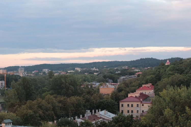 The sun sets over Lithuania's capital - Vilnius