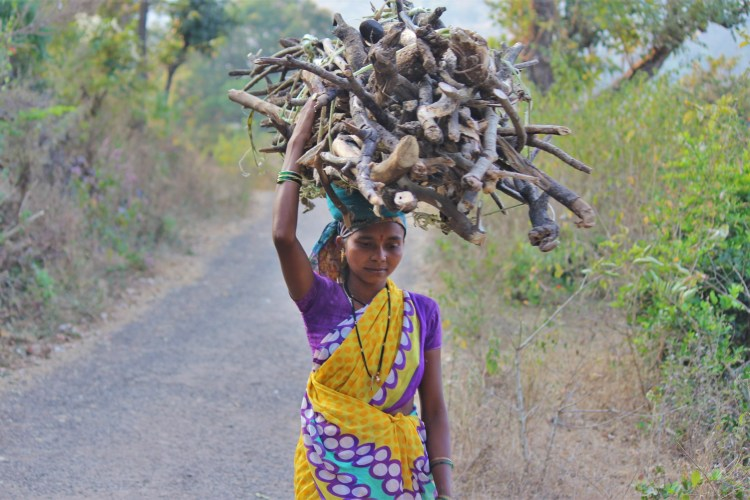Rural dwellers who do a lot of laborious work have a higher protein need. (This strong lady is from Purushwadi.)