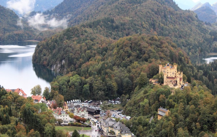 I got this breathtaking view in the German village of Schwangau only after hiking for a bit.