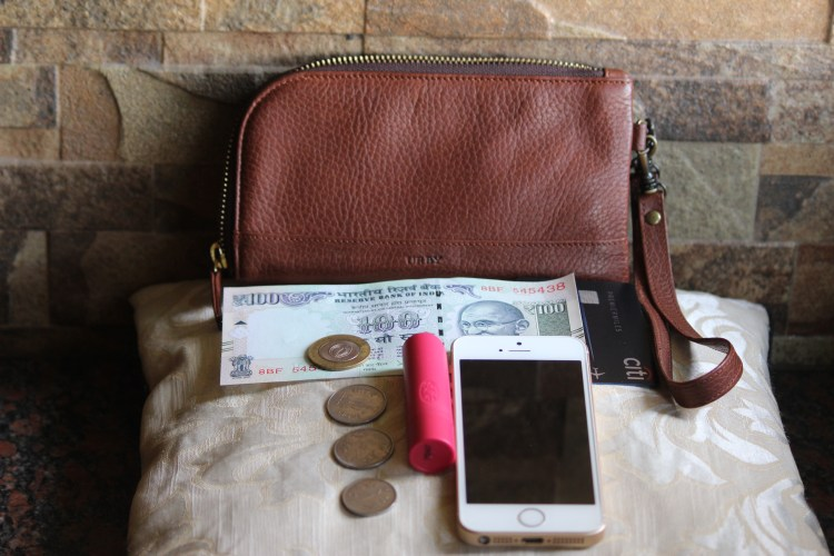 My leather wallet by Urby lets me store the bare essentials I need before I head outdoors.