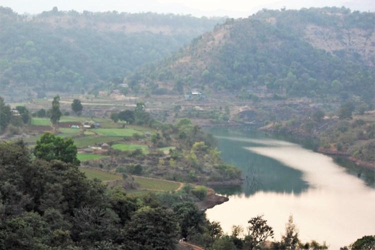 I enjoy the Sahyadri mountains from Matha - Purushwadi's highest point.