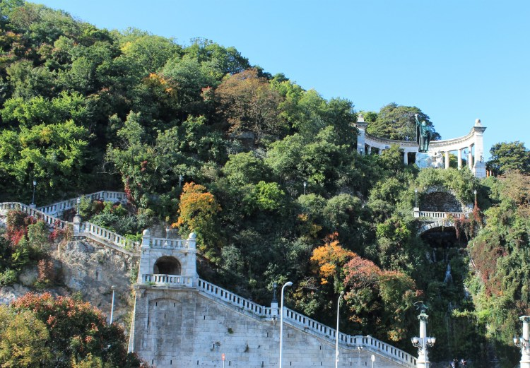 Gellért Hill in Buda offers panoramic views of the city