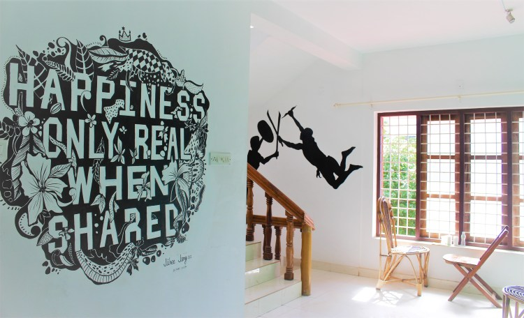 With all the paintings on the walls, it is easy to see that the hostel hosts a lot of artists.