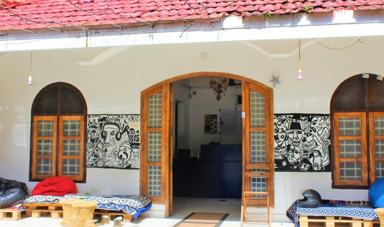 Santa Maria Hostel - one of the cheapest backpackers' hostels in Fort Kochi