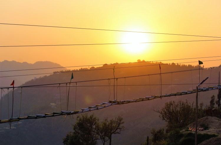 The glorious sunset in Kanatal.