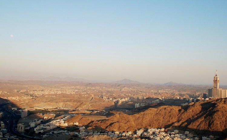 Aerial view of Saudi Arabia
