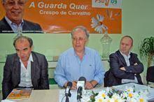 «Fait-divers» marca início de campanha de         Crespo de Carvalho