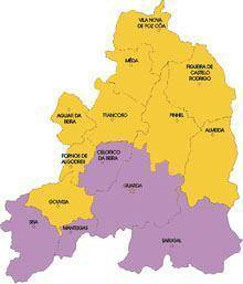O mapa das legislativas do distrito da         Guarda