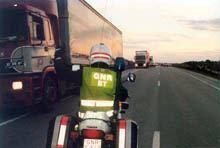 GNR espera congestionamento de pesados na         fronteira na segunda-feira