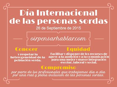 Día Internacional de las personas Sordas 2015