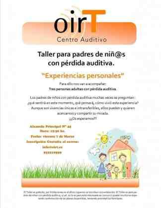 Taller para padres de niños con pérdida auditiva: Experiencias personales.