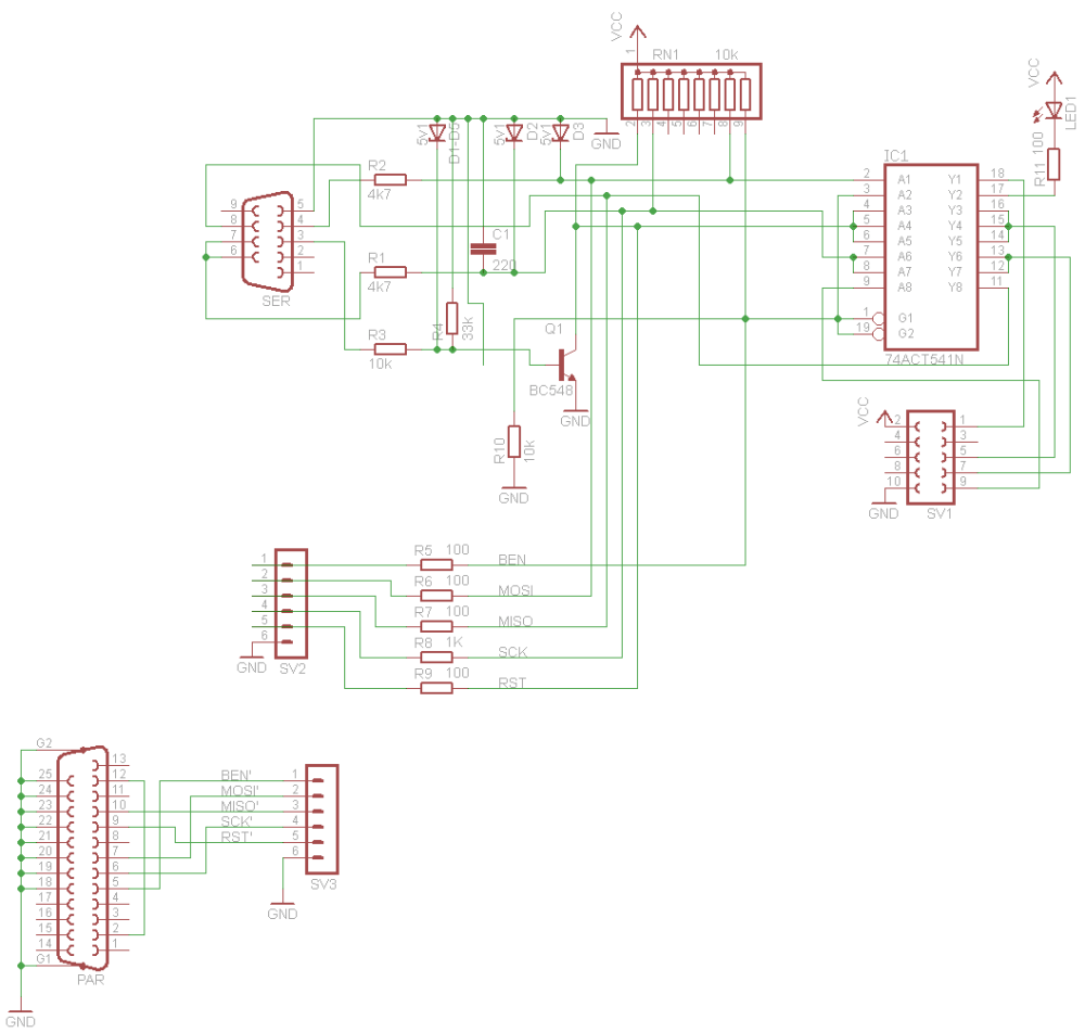 medium resolution of serial com port programmer for at89s52 at89s51 and avr here is the programmer schematic