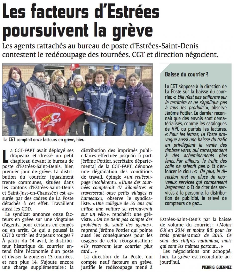 20150305-CP-Estrées-Saint-Denis-Les facteurs poursuivent la grève