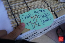 What a bargain - kinchaku (draw string bags)