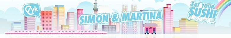 """Photo Description: Simon & Martina header with """"Eat Your Sushi"""" YouTube header."""