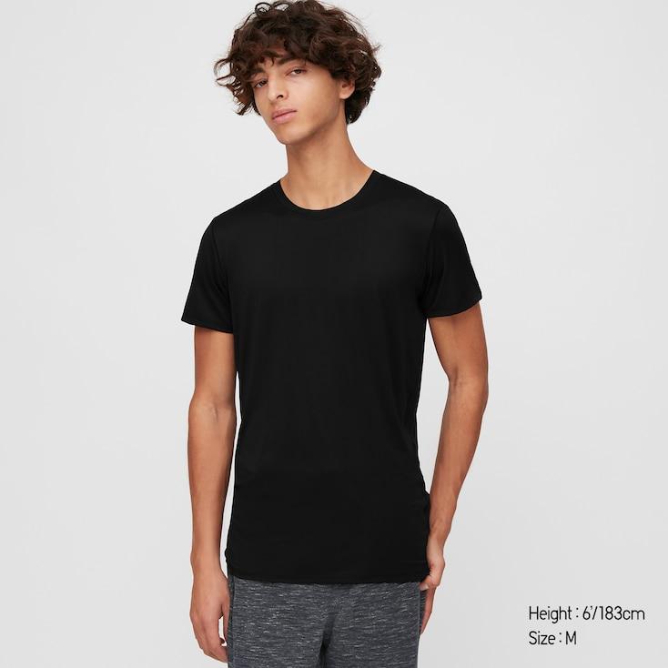 Photo Description: a black UNIQLO short sleeve t-shirt.