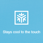 Photo Description: Stays cool to the touch icon.