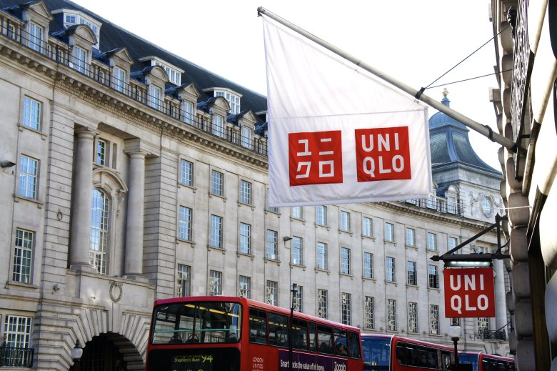Photo Description: a shot of outside store front of the London UNIQLO.