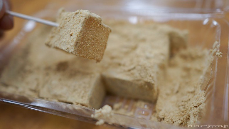 Photo Description: I just added this pic after posting, but it is a pic of mochi in Japan served with kinako which is roasted soy bean powder (a very light brown looking powder).