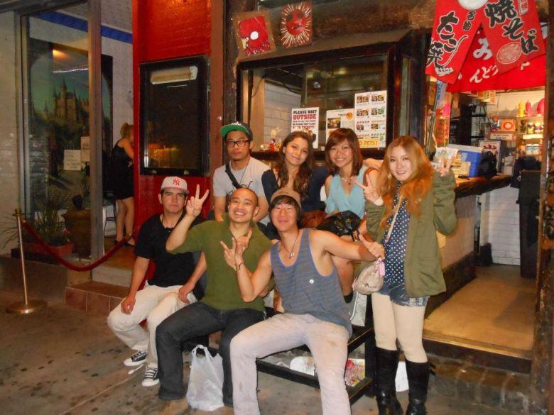 Photo Description: The Otafuku location in New York in 2012. The whole crew of Otafuku.