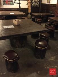 the signature tree stump chairs