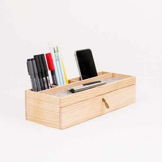 Modern Desk Organizer Wood Desk Organizer With Drawer. Modern Office Desk