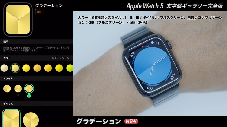 Apple Watchの文字盤 グラデーション