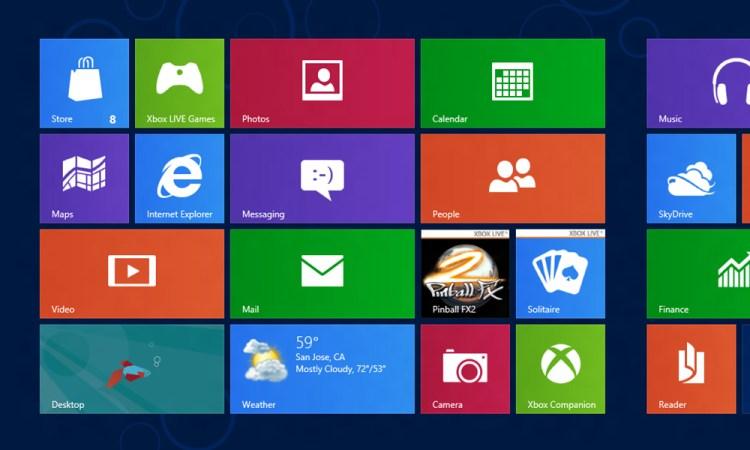 Windows8のデフォルト画面