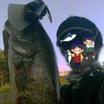 Gバドで50UP@高滝湖