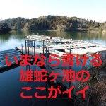 雄蛇ヶ池はオカッパリでもボート釣りでも魅力あるフィールド!ポイントガイドとバス釣り釣果
