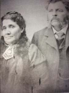Jose Jesus (Chino) Lopez and Ramona Esquivel Lopez, 1890s. (photo courtesy of OVM) The Lopez family owned land stretching from Foothill Road to Matilija Canyon Road. The old adobe at the mouth of Matilija Canyon was once part of the original Ayala land grant from the King of Spain to Francisco Lopez. The son of Chino and Ramona, Francisco, and his wife Matilda raised a family in Ojai. Many Lopez descendants still live here.