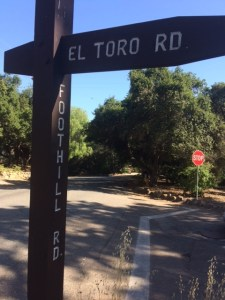 "El Toro Road runs through the Arbolada from Foothill Road to Del Norte Road. It was, presumably, named ""El Toro Road"" because it once led to a slaughterhouse. ""El Toro"" is Spanish meaning ""The Bull""."
