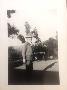 This photo is suspected to have been taken of Howard Bald at his home located at 917 McAndrew Road in Ojai when he was a middle-aged man. His home overlooked the Ojai Valley from the East End of the valley.
