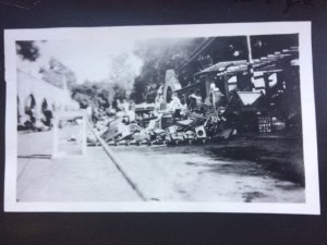 Items removed from the stores, then place onto Ojai Avenue due to the November 28, 1917 Arcade fire.