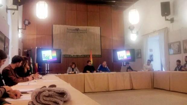 Sesión de trabajo por una ley contra la lgtbfobia en el Parlamento de Andalucía.