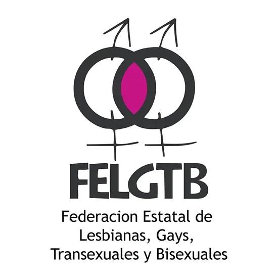 Logotipo de la Federación Estatal de Lesbianas, Gays, Transexuales y Bisexuales