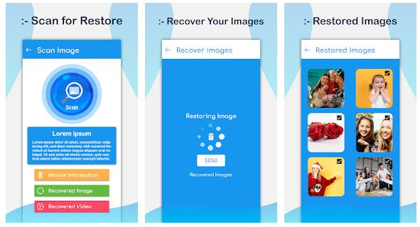 Photo Recovery App, Recover Deleted Photos Android App