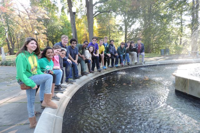 Cleveland Latin students posed at the fountain during their 2014 MADD!