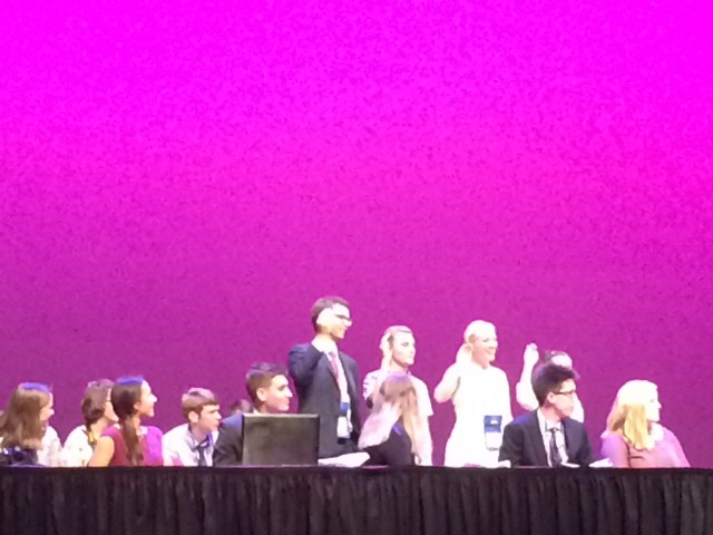 Bobby, Maddie, and the other SCL officers wave to the crowd.