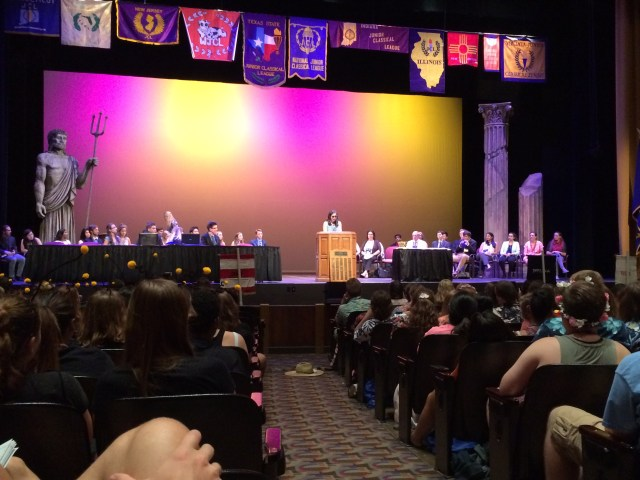 SaraZ! gives her speech - and later she received 2nd for State Community Service