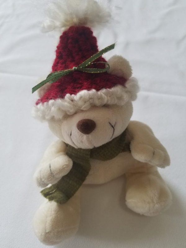 Posable Bear - handcrafted hat