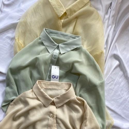 シアーシャツ三種類