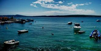 panoramic view of Adriatic Sea from Selce, Croatia