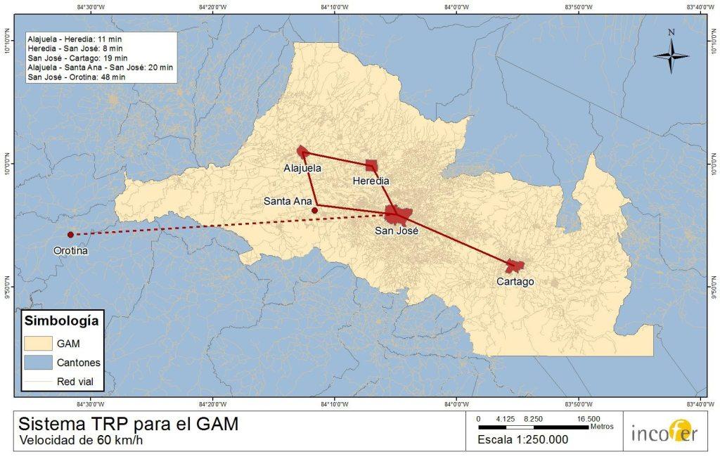 Esta es la propuesta del Incofer para hacer el Sistema de Transporte Rápido de Pasajeros en la GAM.