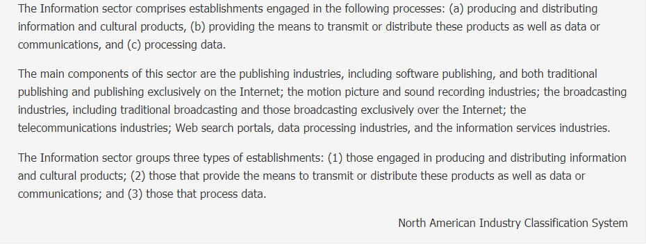 Description of Other Information Services