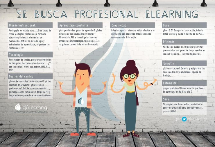 Se busca profesional eLearning por @eduevazquez para @ojulearning